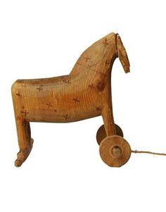 Antique Primitive Swiss Folk Art Carved Horse :: Quintessentia