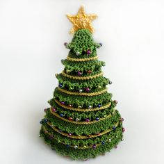 Christmas Tree Hat 5 Sizes PDF Crochet von CrochetSpotPatterns