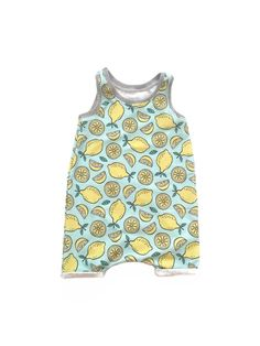 Lemon Tank Playsuit  BabyToddler Romper by HeartlysCloset on Etsy  LEMON, ROMPER, PLAYSUIT, PLAY SUIT, TODDLER, BABY, FASHION, STYLE, SUMMER, SPRING, BABY STYLE, BABY FASION, BABYOOTD, OTTD, TODDLER OTTD, HANDMADE, KIDS STYLE