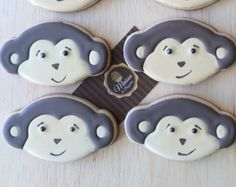 Biscoitos Decorados - Macaquinho