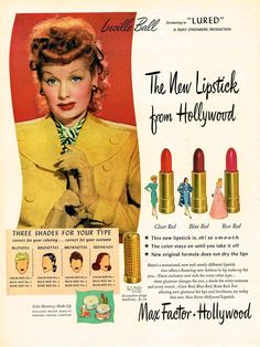 Who knew?  Lucy as a model for Max Factor.