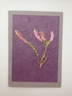 Handmade Any Occasion Card - Pressed Heather £4.00