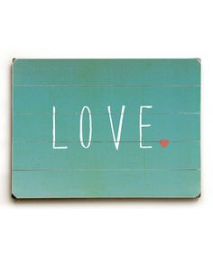 This Blue 'Love' Wall Art by ArteHouse is perfect! #zulilyfinds