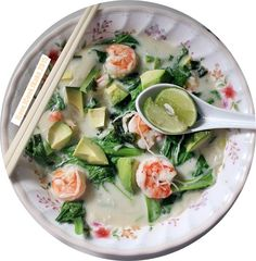 I Love. I Cook. I Bake.: Thai Style Prawn Avocado Rice Vermicelli Soup
