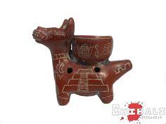 ALEFL-PER01  Largo: 9.5 cm Ancho: 4 cm Alto: 8 cm  Pequeña #flauta de #barro en forma de #perro