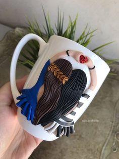 Best friends best friends mug bestie BFF BFF mug Polymer Clay Crafts, Diy Clay, Polymer Clay Jewelry, Best Friend Mug, Friend Mugs, Friend Gifts, Bottle Painting, Bottle Art, Coffee Cup Crafts