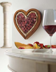 Wine Enthusiast Heart Shaped Corkboard / Trivet Kit Stage Stores