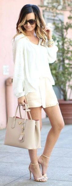 #street #fashion | White + Shades of Pink | For All Things Lovely