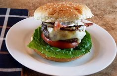 Jalapeño Cheeseburgers with Bacon and Grilled Onions    www.creative-culinary.com