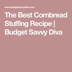 The Best Cornbread Stuffing Recipe   Budget Savvy Diva