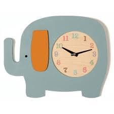 Hand Painted Elephant Clock from Tree by Kerri Lee