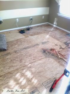 ripping up carpet for faux wood plank flooring, Freckle Face Girl for Remodelaholic