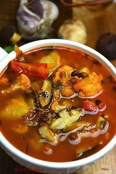 R'n'G Kitchen: Zupa warzywna z grzybami i soczewicą Soup Recipes, Chili, Good Food, Kitchen, Dom, Diet, Cooking, Chile, Chilis