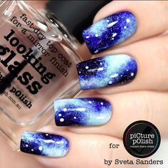 #Repost @picturepolish ・・・ 'Galaxy Nails' Devised by Jules and brought to life by @sveta_sanders Music: Cosmic Girl by Jamiroquai What you need: Shades: Live Love Polish + Bright White + Salt Water Liquid Palisade (that purple stuff) Tools: One Stroke Brush # 4 + Dotticure Kit + Tweezers + Sponge Top Coat: Looking Glass Shop @picturepolish (link in their bio) www.picturepolish.com.au