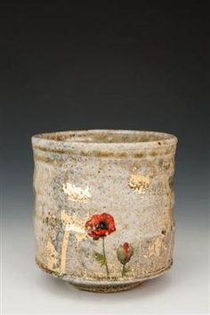 love this wood/soda fired with poppy decal and gold... justin rothshank, one to watch http://akardesign.com/shows/index.asp?page=17