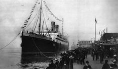 The Empress of Ireland in port.