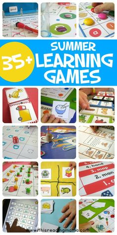 Summer Learning Games from This Reading Mama Summer Activities For Kids, Toddler Activities, Fun Activities, Kids Fun, Outdoor Activities, Abc Learning Games, Kids Learning, Early Learning, Summer Slide
