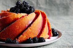 Sweet Lemon Bundt with Blackberry Glaze | A Salad For All Seasons