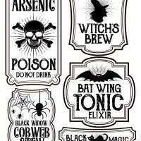 Free printables for Halloween bottle labels and potion labels. Easy and cheap Halloween craft and DIY project. Dulceros Halloween, Image Halloween, Halloween Potions, Halloween Drinks, Halloween Stickers, Holidays Halloween, Halloween Makeup, Halloween Recipe, Women Halloween