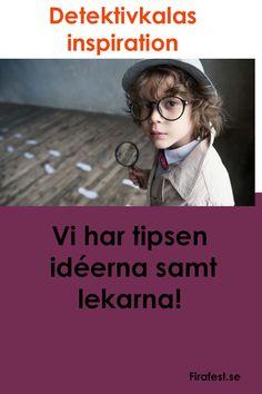 Spion, Agent eller Detektivkalas? Här har vi samlat våra bästa tips för att ordna ett detektivkalas. #kalas #detektivkalas #barnkalas #firafest