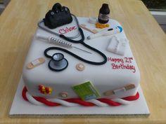 Student Doctor Medical Birthday Cake