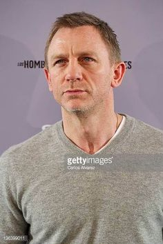 Actor Daniel Craig attends 'The Girl With The Dragon Tattoo' photocall at Villamagna Hotel on January 4 2012 in Madrid Spain #DanielCraig