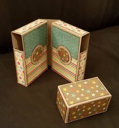 Crafts by Johanna: Box tutorial Printable Box, Making Greeting Cards, Mini Albums, Stampin Up, Decorative Boxes, Paper Crafts, Templates, Scrapbooking, Projects