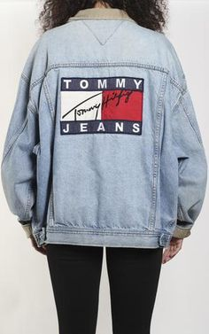 Vintage Tommy Hilfiger denim jacket MeasurementsSize on tag: XLPit to Pit: Arm: Condition: Worn to perfection, wear on collar, small holes in sleeves Tommy Hilfiger Mujer, Tommy Hilfiger Outfit, Tommy Hilfiger Jackets, Hilfiger Denim, Coats For Women, Jackets For Women, Jean Vintage, Denim Look, Vest Jacket
