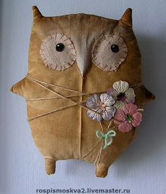 Owl with flowers, so cute!
