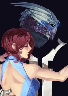 Commander Shepard + Garrus Vakarian #masseffect