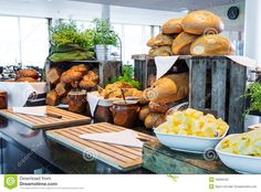 Stock Photography: Bread display at a hotel buffet