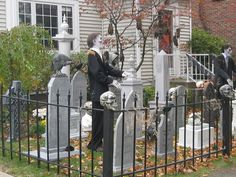 http://www.halloweenmonsterlist.info/There are a few good tutorials on cemetery fences listed on the monster list. Scroll down as they are listed alphabetically. Definitley one of the best things you can build for your haunt.Agree with the 8 inch spacing. My pvc poles are 40 inches high, not including the finials, if that helps.