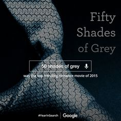Wow! Fifty Shades of Grey was the #1 trending romance movie in Google's #YearInSearch. Thanks so much!