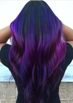 Looking for best styles of purple hair color ideas to sport in 2018? See here our gorgeous collection of dark purple hair colors especially for long and medium haircuts to sport in this year. Purple is of the top hair colors which is worn by the top female celebs around the world. You may also wear it for fresh looks.