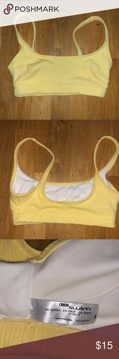 ASOS crop bikini top Sz 32 E/F Yellow bikini top. Brand new...never worn. ASOS Swim Bikinis