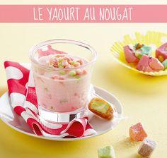 Recette du yaourt au nougat #recette #yaourt #blancheporte