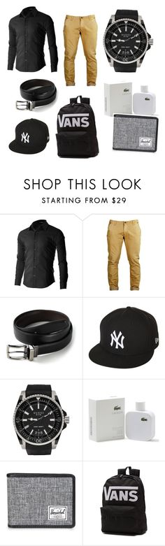 """""""Boy"""" by emarshall007 ❤ liked on Polyvore featuring Dockers, New Era, Gucci, Lacoste, Herschel Supply Co., Vans, men's fashion and menswear"""