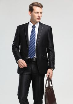 Men Business Office Uniform Design Whole Coat Pant Suit Slim Fit Suits For Arel
