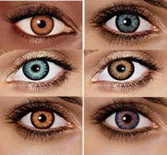 Yes, a lot of girls in jr. high wore colored contacts.  I once had aqua and green.