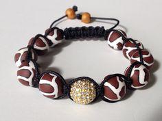 Shamballa Bracelet Leopard Print Polymer Clay by BeadsByKatrina, $30.00