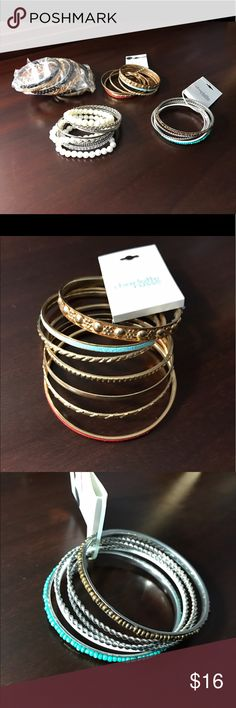 Selling this Trendy bangles and a pair of cute earrings! on Poshmark! My username is: __lena. #shopmycloset #poshmark #fashion #shopping #style #forsale #Charlotte Russe #Jewelry