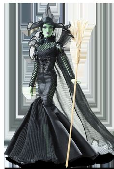 FANTASY GLAMOUR WIZARD OF OZ WICKED WITCH OF THE WEST Barbie Doll NRFB