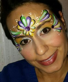 mardi gras face painting - Google Search