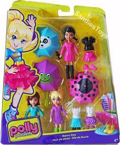 Polly Pocket Playset Fun Rain - Model 2012 by Mattel for sale online Little Girl Toys, Toys For Girls, Kids Toys, Barbie Doll House, Barbie Dolls, Fairy Garden Cake, Disney Descendants Dolls, Poly Pocket, Barbie Birthday Cake