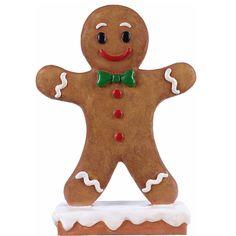 Polyresin Gingerbread Boy Christmas Statue Brown - Hi-Line Gift Gender: unisex. Gingerbread Man Crafts, Gingerbread Houses, Christmas Gingerbread, Felt Christmas, Christmas Ornaments, Boy Decor, Christmas Pictures, Christmas Ideas, Outdoor Christmas Decorations