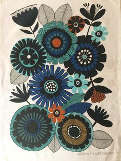 Jocelyn Proust Designs Printed tea towel Summer Time Available on Etsy