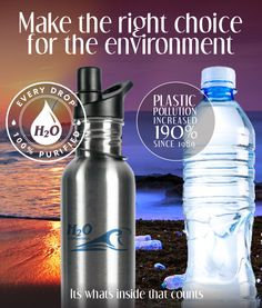 100% purified water straight from the tap using H2O International's purification water systems will help save our planet.