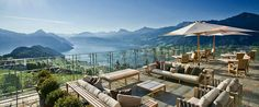 People are Calling This Rooftop Infinity Pool in the Swiss Alps the Stairway to Heaven the rest of the hotel isn't too shabby Hotel Villa Honegg Switzerland, Switzerland Hotels, Lucerne Switzerland, Infinity Pools, Hotels In France, Hotel Villas, Restaurants, Beste Hotels, Hotel Restaurant