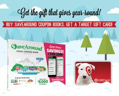 Looking for an awesome last-minute gift? Our friends at Save Around have the perfect present (plus a little something for you too!) >> CLICK: https://savearound.com/pages/buy-book?discount=SignUpAndSave Buy 1 book, get a $5 Target gift card Buy 2 books, get a $15 gift card Buy 3 books, get a $30 gift card Buy 4 books, get a $40 gift card Buy 5 books, get a $60 gift card  *Enter promo code SignUpAndSave at checkout*