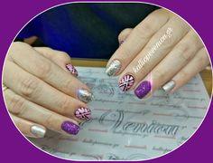 #nails #nailart #silvernails #sugareffect #beautymakesyouhappy
